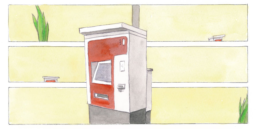Fahrkartenautomat Graphic Novel