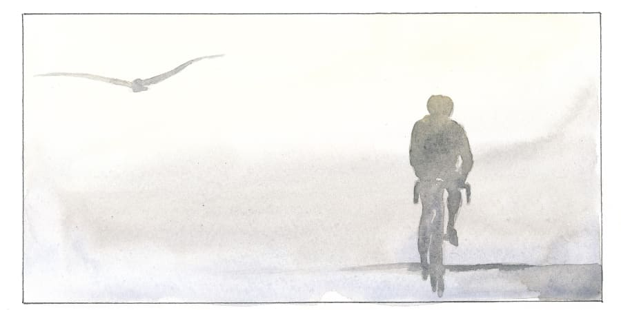 Radfahrer Graphic Novel